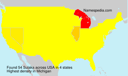 Surname Sulaka in USA