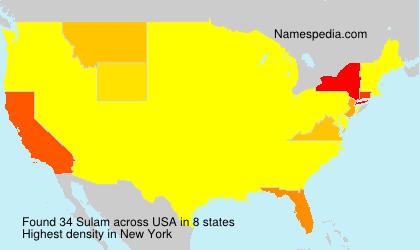 Surname Sulam in USA