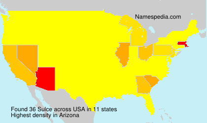 Familiennamen Sulce - USA