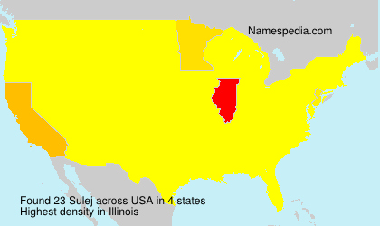 Familiennamen Sulej - USA