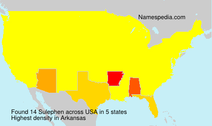 Surname Sulephen in USA