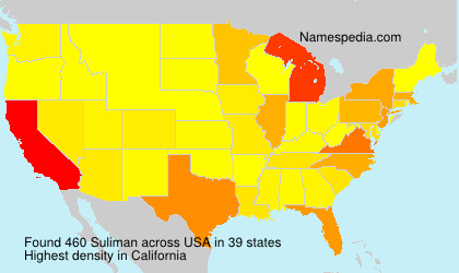 Surname Suliman in USA