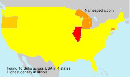 Familiennamen Sulja - USA