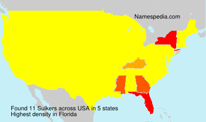 Surname Sulkers in USA