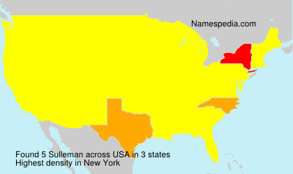 Surname Sulleman in USA