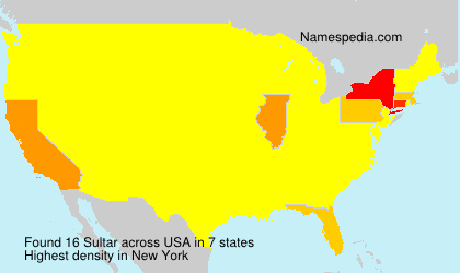 Surname Sultar in USA