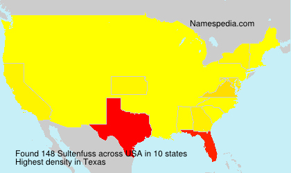 Surname Sultenfuss in USA