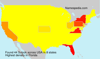 Surname Sulyok in USA