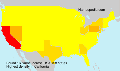 Surname Sumei in USA