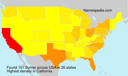 Surname Sumer in USA