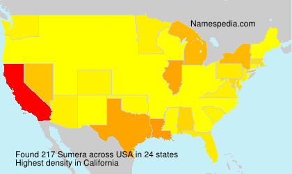 Surname Sumera in USA