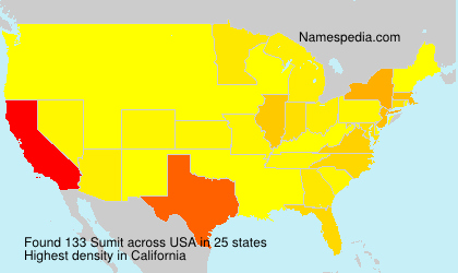 Surname Sumit in USA