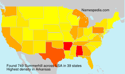Surname Summerhill in USA