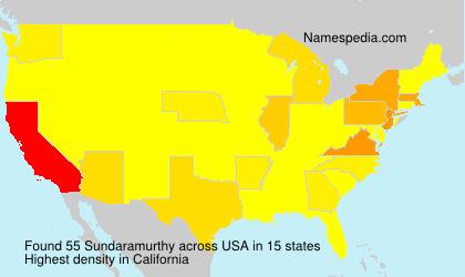 Surname Sundaramurthy in USA