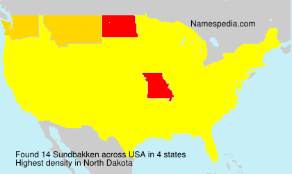 Surname Sundbakken in USA