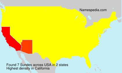 Surname Sundes in USA