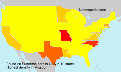 Surname Suneetha in USA