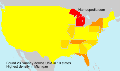 Surname Sunney in USA