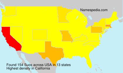 Familiennamen Suos - USA