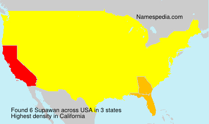 Surname Supawan in USA