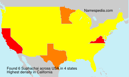 Surname Suphachai in USA