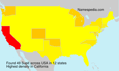 Surname Supit in USA