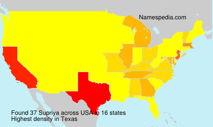 Surname Supriya in USA