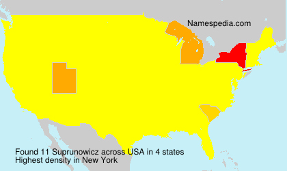 Surname Suprunowicz in USA