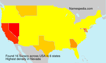 Surname Suraco in USA
