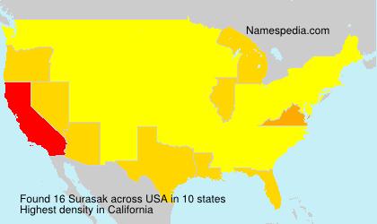 Surname Surasak in USA