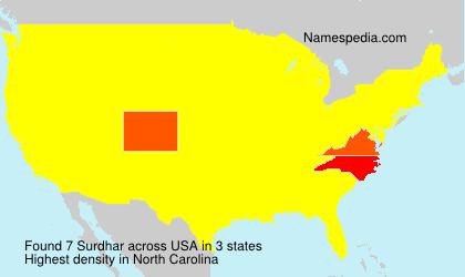 Surname Surdhar in USA