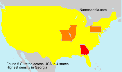 Surname Suretha in USA