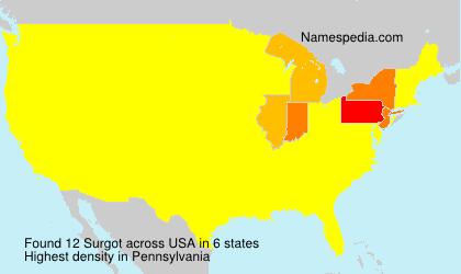 Surname Surgot in USA