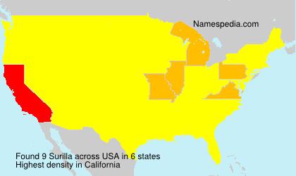 Surname Surilla in USA