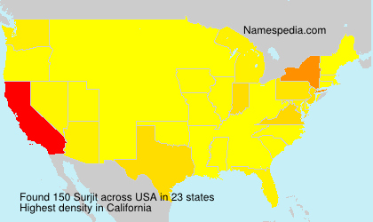 Surname Surjit in USA