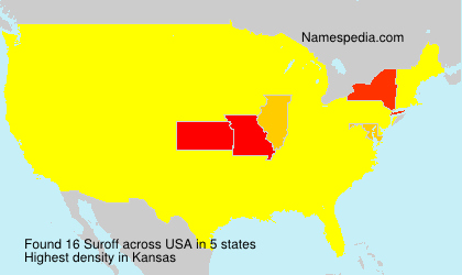 Surname Suroff in USA