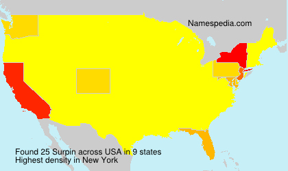 Surname Surpin in USA