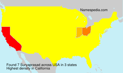 Surname Suryaprasad in USA