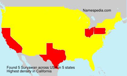 Surname Suryawan in USA