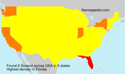 Surname Susand in USA