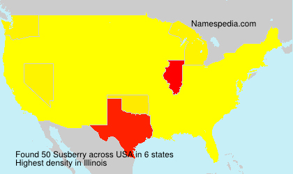 Surname Susberry in USA