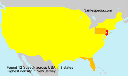 Surname Suseck in USA