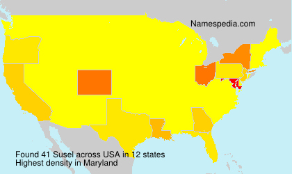 Surname Susel in USA