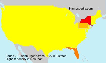 Surname Susenburger in USA