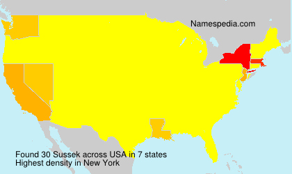 Surname Sussek in USA