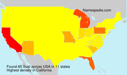 Surname Sust in USA