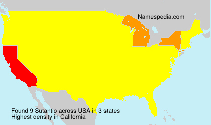Surname Sutantio in USA