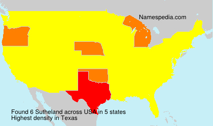 Surname Sutheland in USA