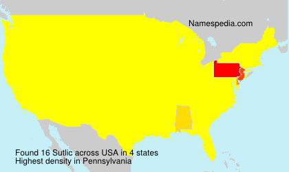 Surname Sutlic in USA