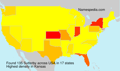 Surname Sutterby in USA